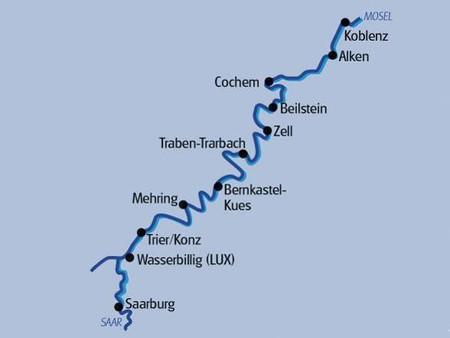 Radkreuzfahrt Saar Mosel