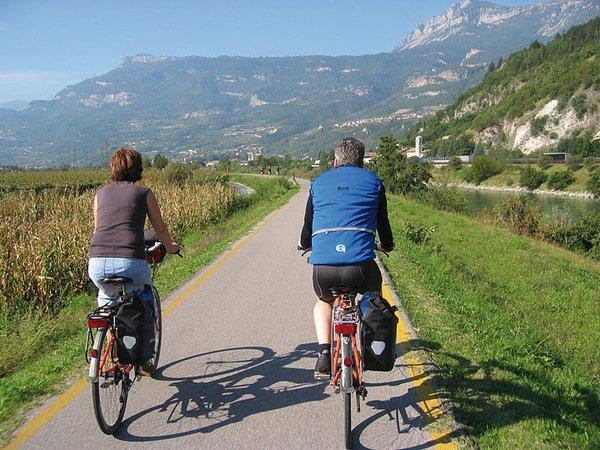 Reschenpass Gardasee Radtour